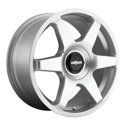 Rotiform Wheels Six R114 - Gloss Silver Rim