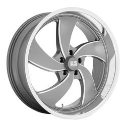 US Mag Wheels Desperado 5 - U133 - Anthracite & Milled with Diamond Cut Lip Rim