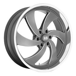 US Mag Wheels Desperado 6 - U133 - Anthracite & Milled with Diamond Cut Lip Rim