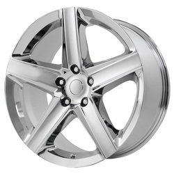Topline Replica Wheels 2006 JEEP SRT-8 - Chrome Rim - 22x9