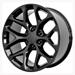 Topline Replica Wheels 2015 GMC SIERRA SNOWFLAKE - Gloss Black