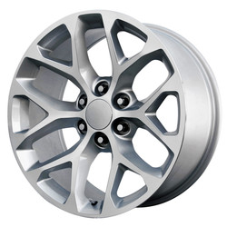 Topline Replica Wheels 2015 GMC SIERRA SNOWFLAKE - Gloss Silver/Machined