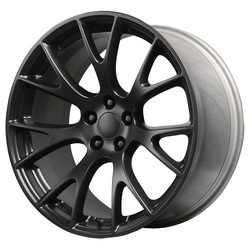 Topline Replica Wheels Hellcat - Satin Black Rim - 22x11