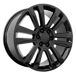 Topline Replica Wheels V1184 2017 GMC Denali - Satin Black Rim - 20x9