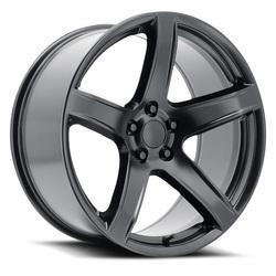 Topline Replica Wheels V1185 2018 Hellcat - Satin Black Rim - 20x11
