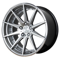Verde Wheels V20 Insignia - HYPER Silver Dark/Machined Rim - 22x10.5