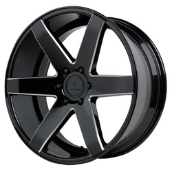 Verde Wheels V24 Invictus - Gloss Black/Milled Windows Rim - 22x9.5