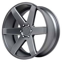 Verde Wheels V24 Invictus - Matte Graphite/Milled Windows Rim - 24x10