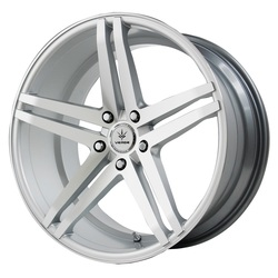 Verde Wheels V39 Parallax - Matte Silver/Machined Rim - 22x10.5