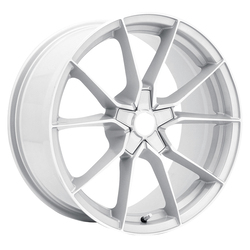 Verde Wheels V18 Verve - Gloss Silver / Machine Face Rim - 17x8