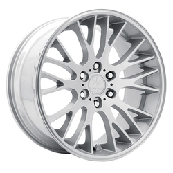Verde Wheels V22 Duo - Satin Silver / Machine Face Rim - 22x9.5