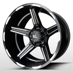 V-Rock Wheels VR14 Ambush - Satin Black/Milled - 22x12