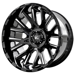 V-Rock Wheels VR10X Recoil - Gloss Black/Milled Spokes Rim - 20x12