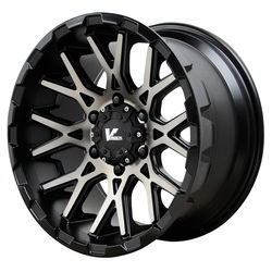 V-Rock Wheels VR10 Recoil - Satin Black/Dark Machined Tint - 20x9.5