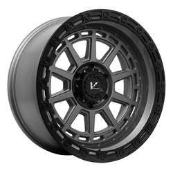 V-Rock Wheels VR17 Storm - Satin Grey W/Black Ring Rim - 17x10