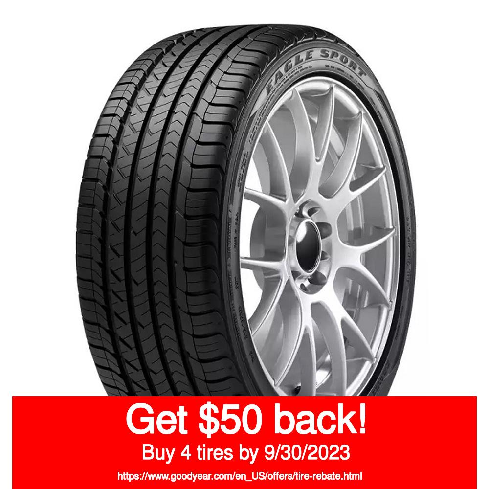 New Tire 2755520 275//55R20 Goodyear Eagle Sport AS Blk 117V XL Qty 1