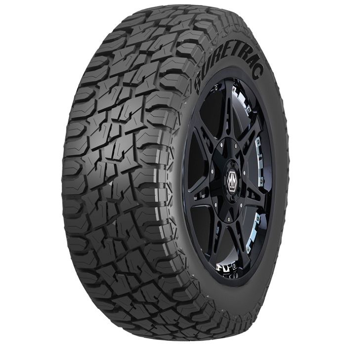 Suretrac Tires Wide Climber RT Light Truck/SUV All Terrain/Mud Terrain Hybrid Tire - 33x12.5R20LT 12 Ply