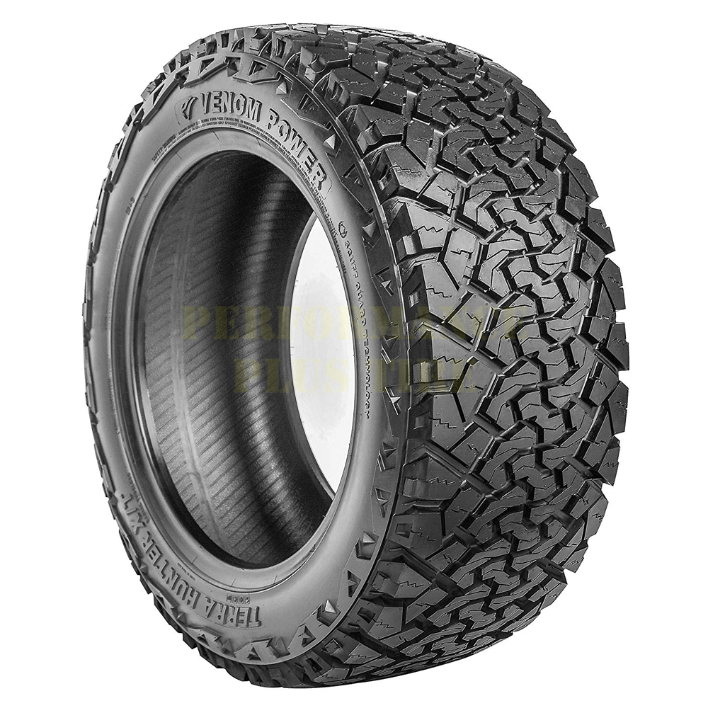 Venom Power Tires Terra Hunter XT Light Truck/SUV All Terrain/Mud Terrain Hybrid Tire - 35x12.5R20LT 125R 12 Ply