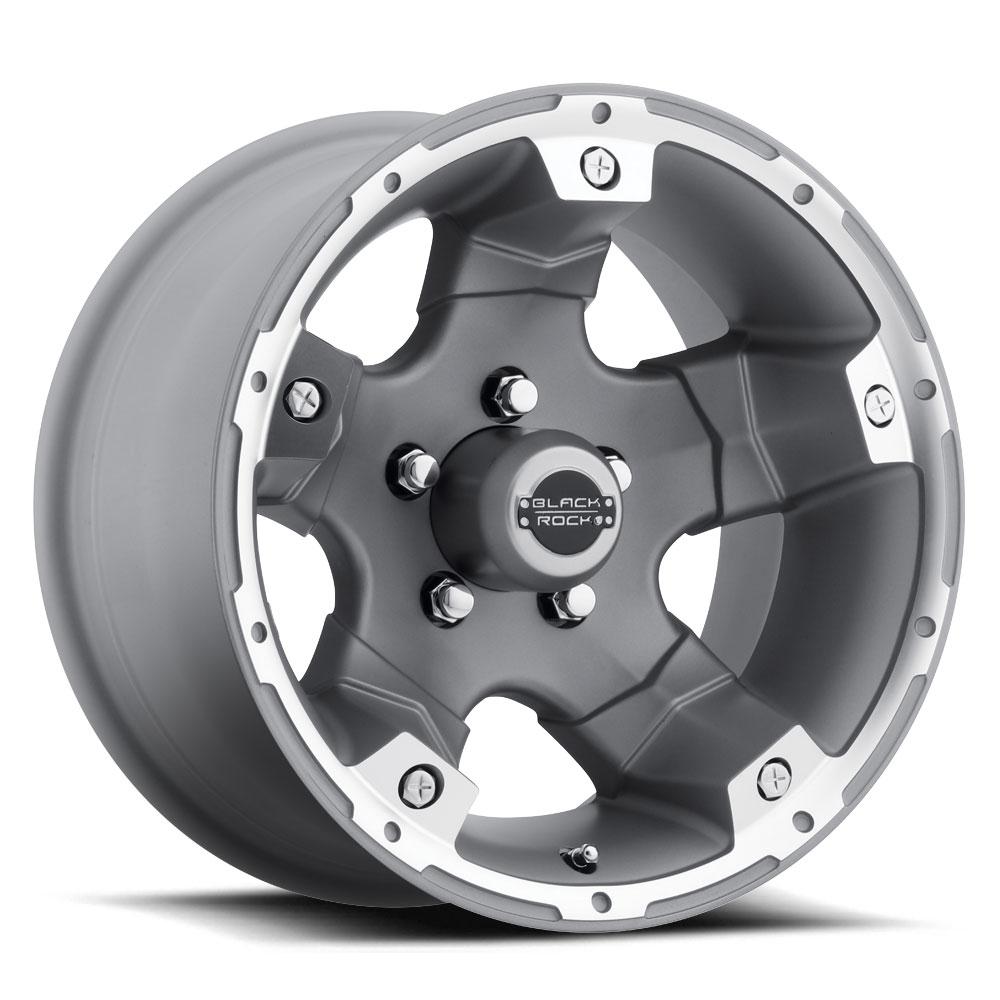 Black Rock Wheels 900S Viper - Silver Rim