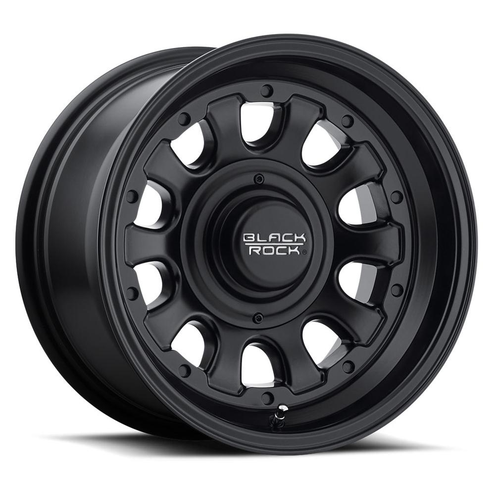 Black Rock Wheels 909B Type D - Matte Black Rim