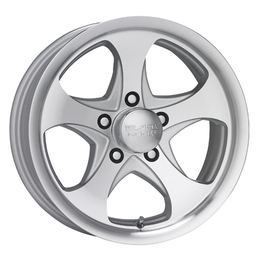 Black Rock Wheels 921MS Intrepid - Silver Rim