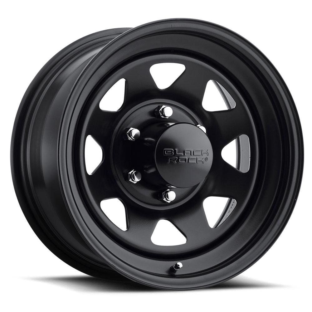 Black Rock Wheels 929 Black Jack - Matte Black Rim