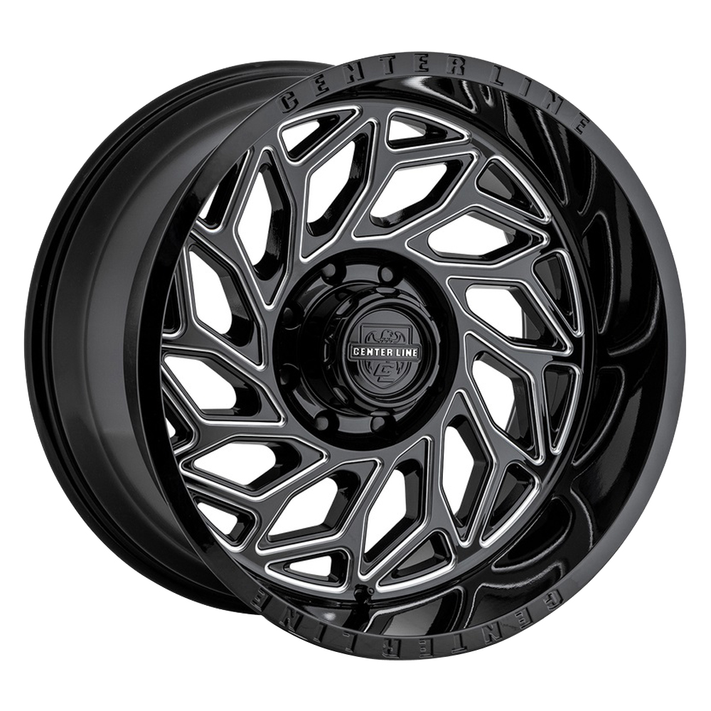 Centerline Wheels 846BM LT6 - Gloss Black w/Machined Face