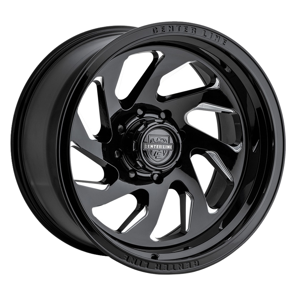 Centerline Wheels 847BM LT7 - Gloss Black w/Machined Face