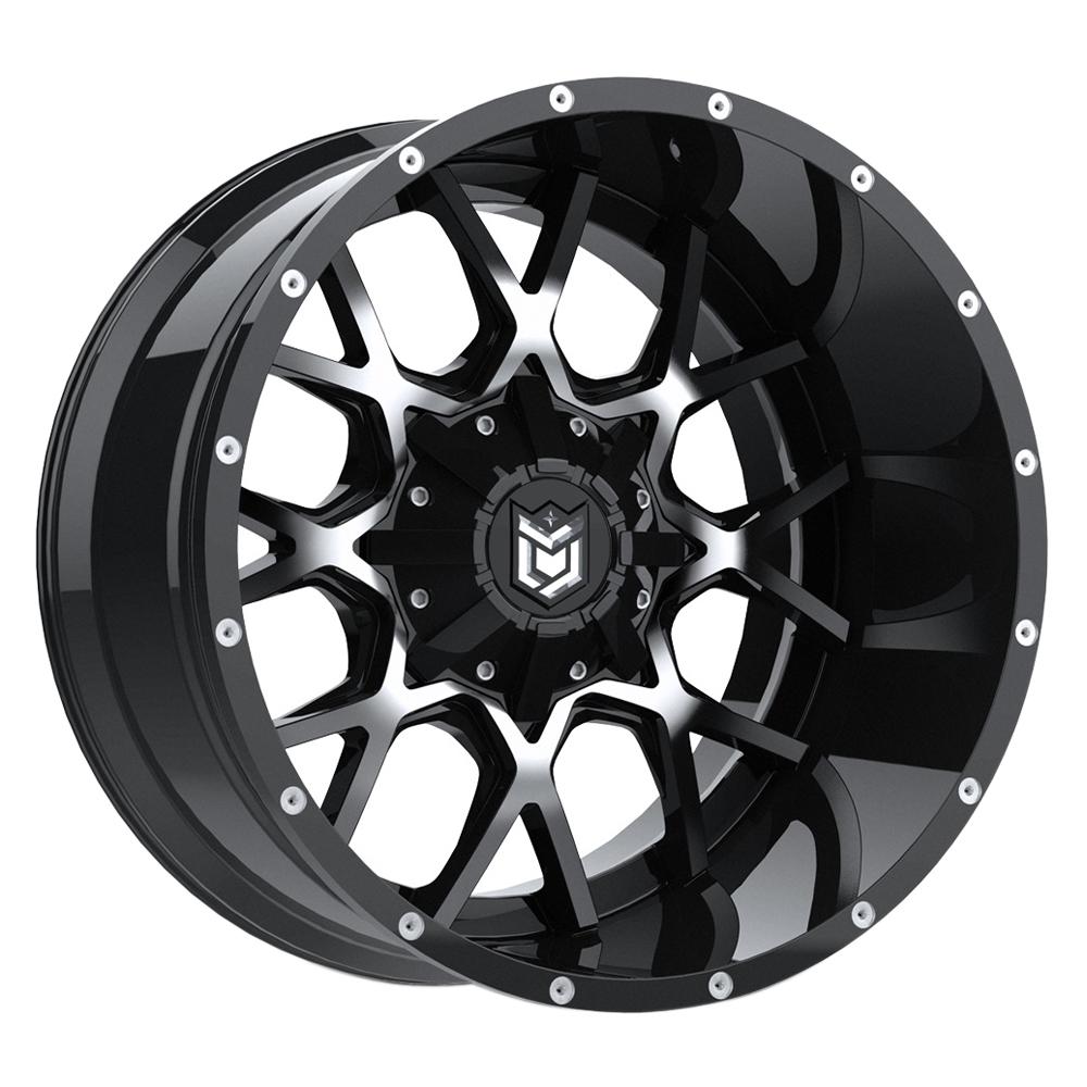 Dropstars Wheels 645MB - Gloss Blk w/Mirror Machined Face