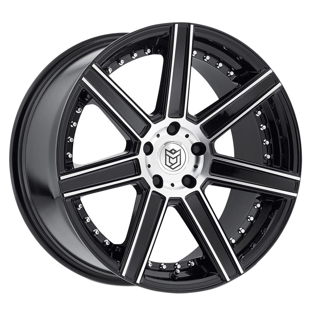 Dropstars Wheels 650MB - Mirror Machined Face w/ Gloss Black Accents