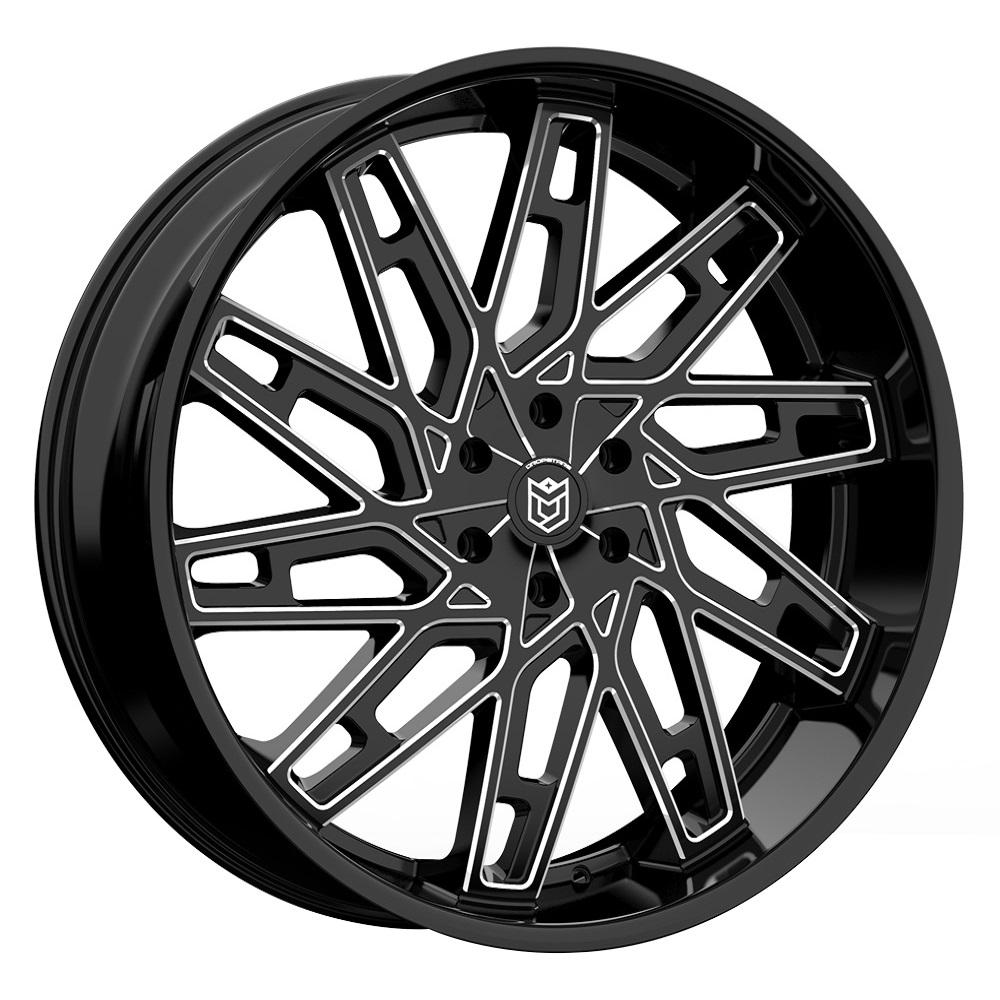 Dropstars Wheels 656BM - Gloss Black w/ CNC Milled Accents Rim