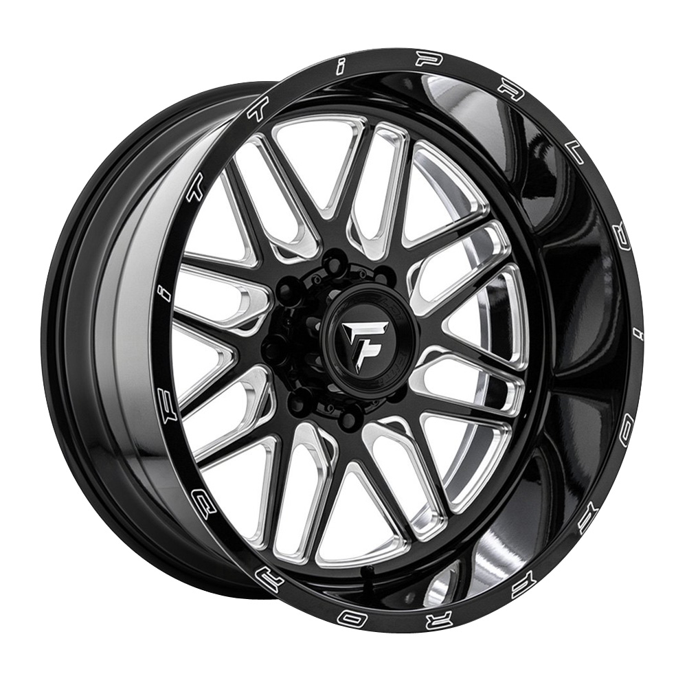 Fittipaldi Wheels FTF18 Alpha - Black with Milled Spoke Rim