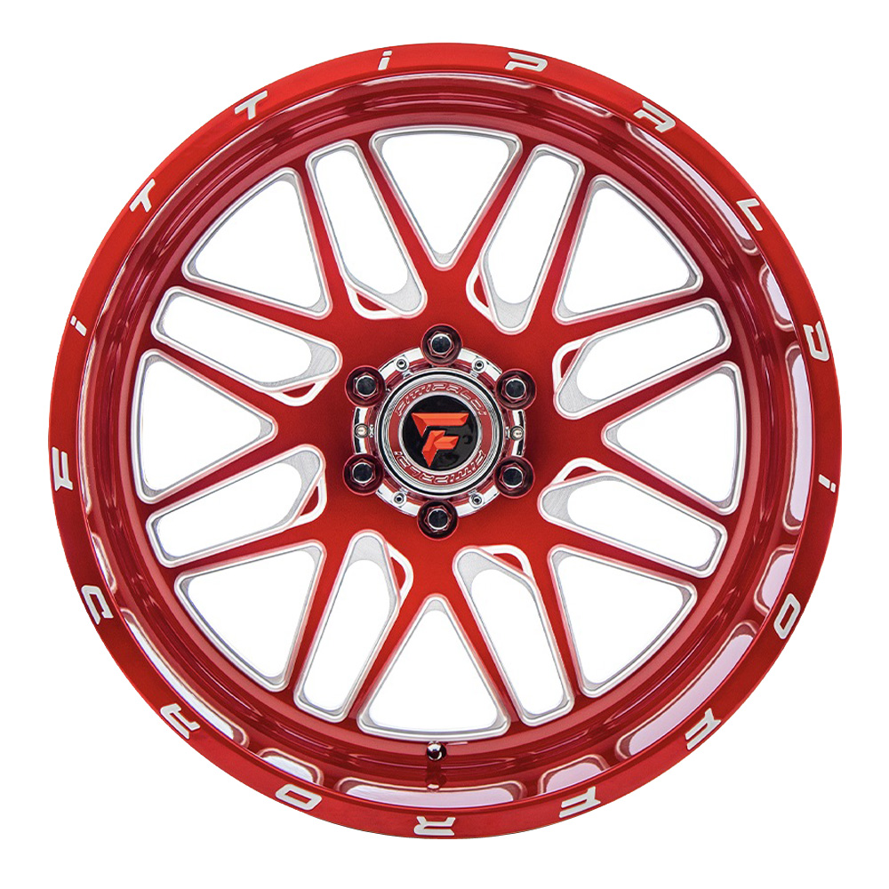 Fittipaldi Wheels FTF18 Alpha - Red with Milled Spoke Rim