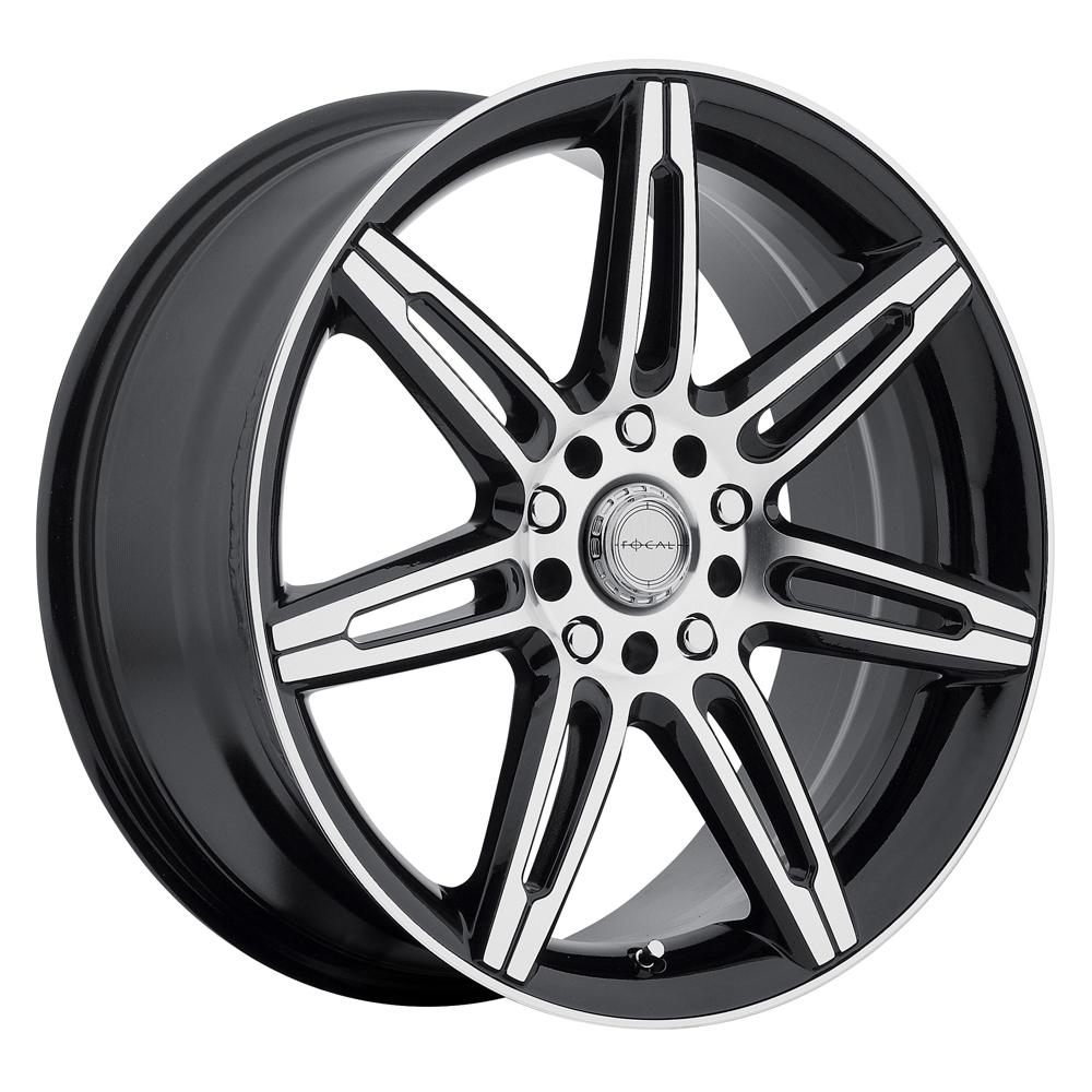 Focal Wheels 430 F-07 - Gloss Black with Diamond Cut Face Rim