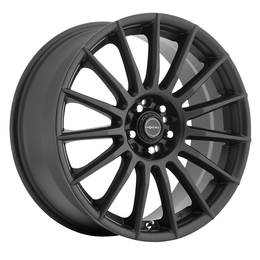 Focal Wheels 442 F-15 - Satin Black with Satin Clear-Coat Rim