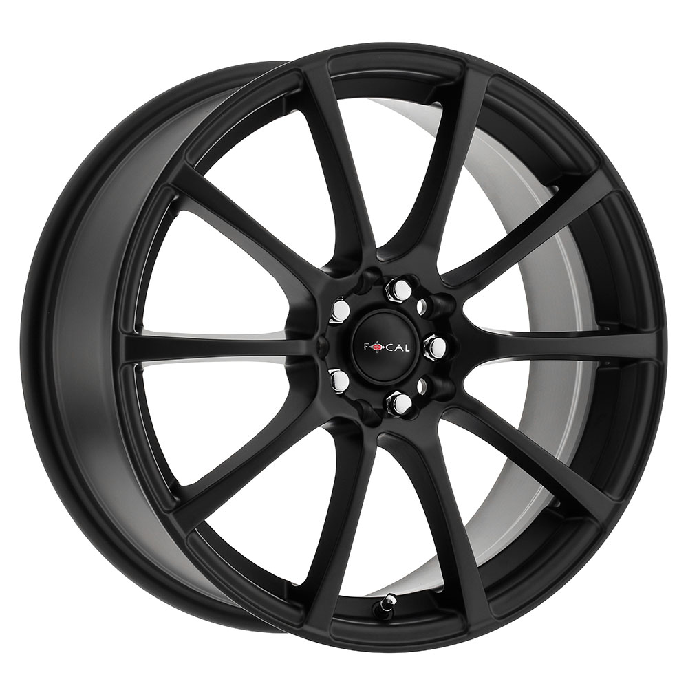Focal Wheels 448 F-20 - Satin Black w/Satin Clear Coat Rim