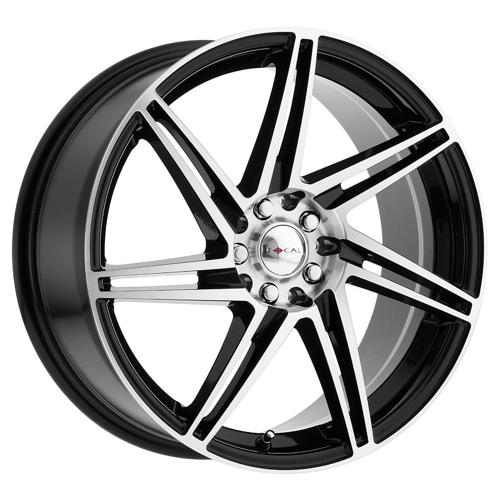 Focal Wheels 449 F-14 - Gloss Black w/Diamond Cut Face & Clear Coat Rim