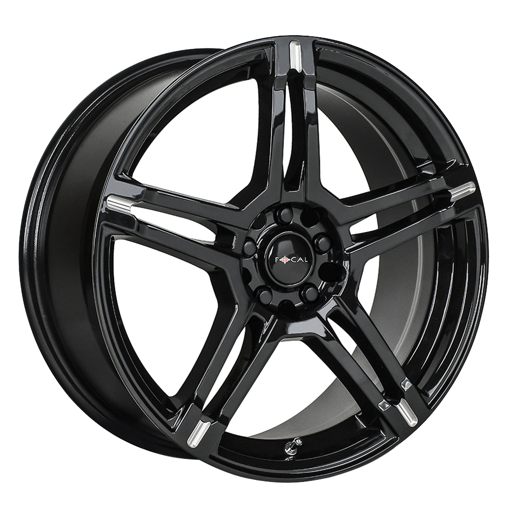 Focal Wheels 451 F-51 - Gloss Black w/Milled Accents & Clear Coat Rim