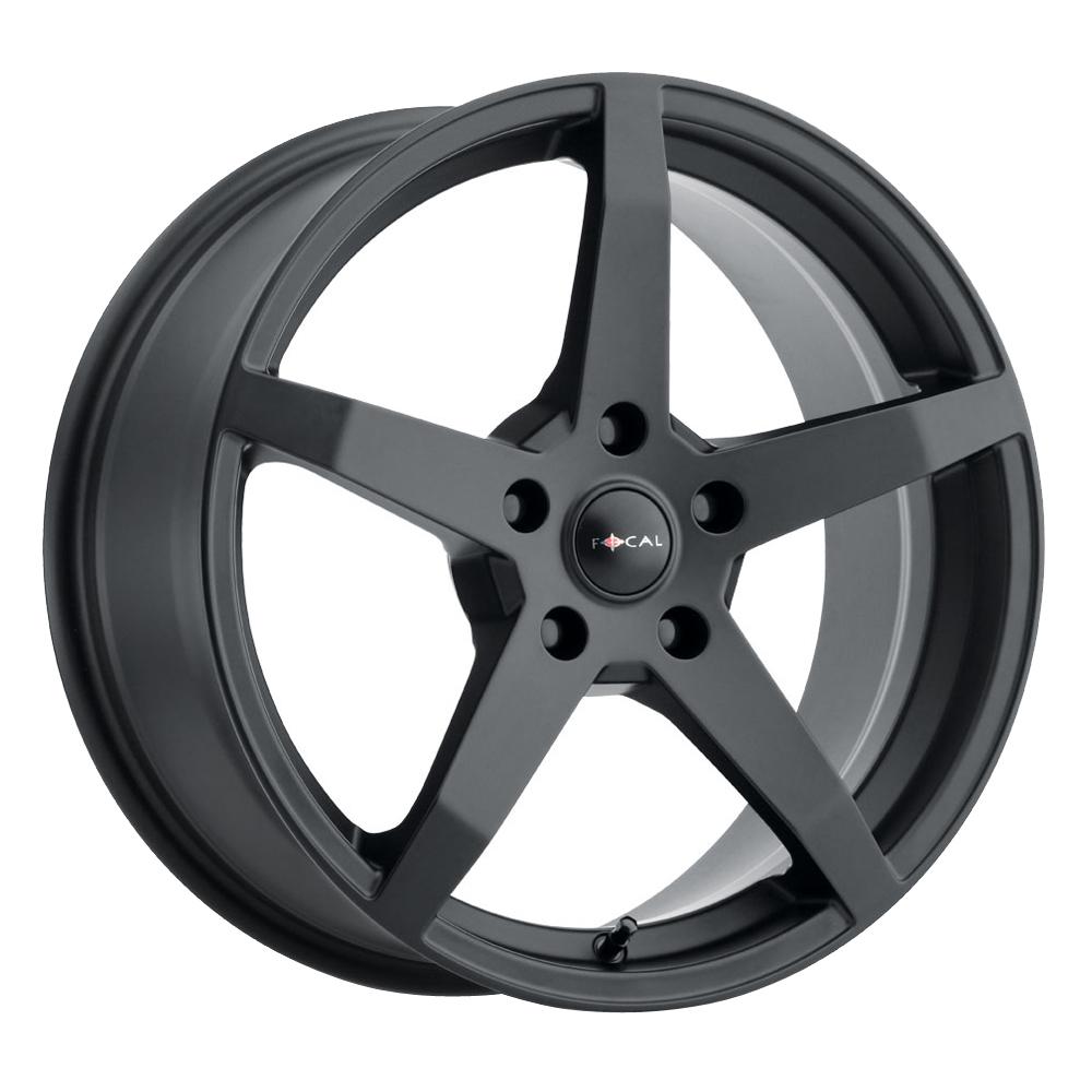 Focal Wheels 455 F-55 - Satin Black w/Satin Clear Coat Rim