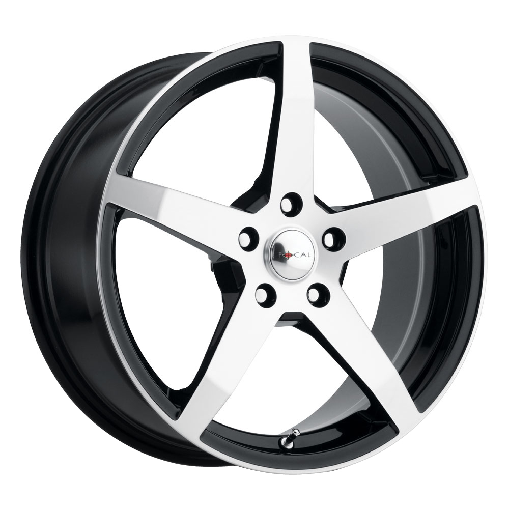 Focal Wheels 455 F-55 - Gloss Black w/Diamond Cut Face & Clear Coat Rim