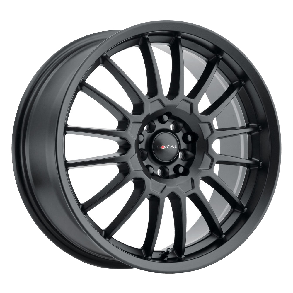 Focal Wheels 456 F-56 - Satin Black w/Satin Clear Coat Rim
