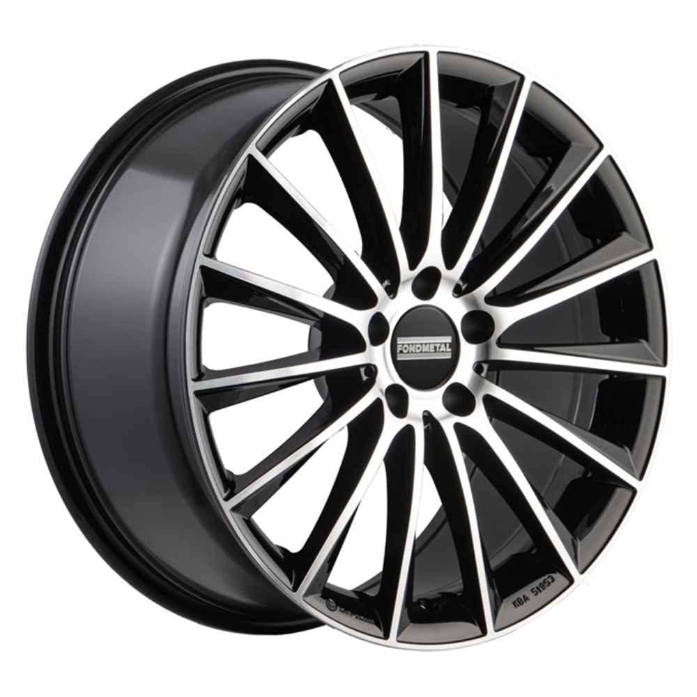 Fondmetal Wheels 195MB Aidon - Gloss Black Machined