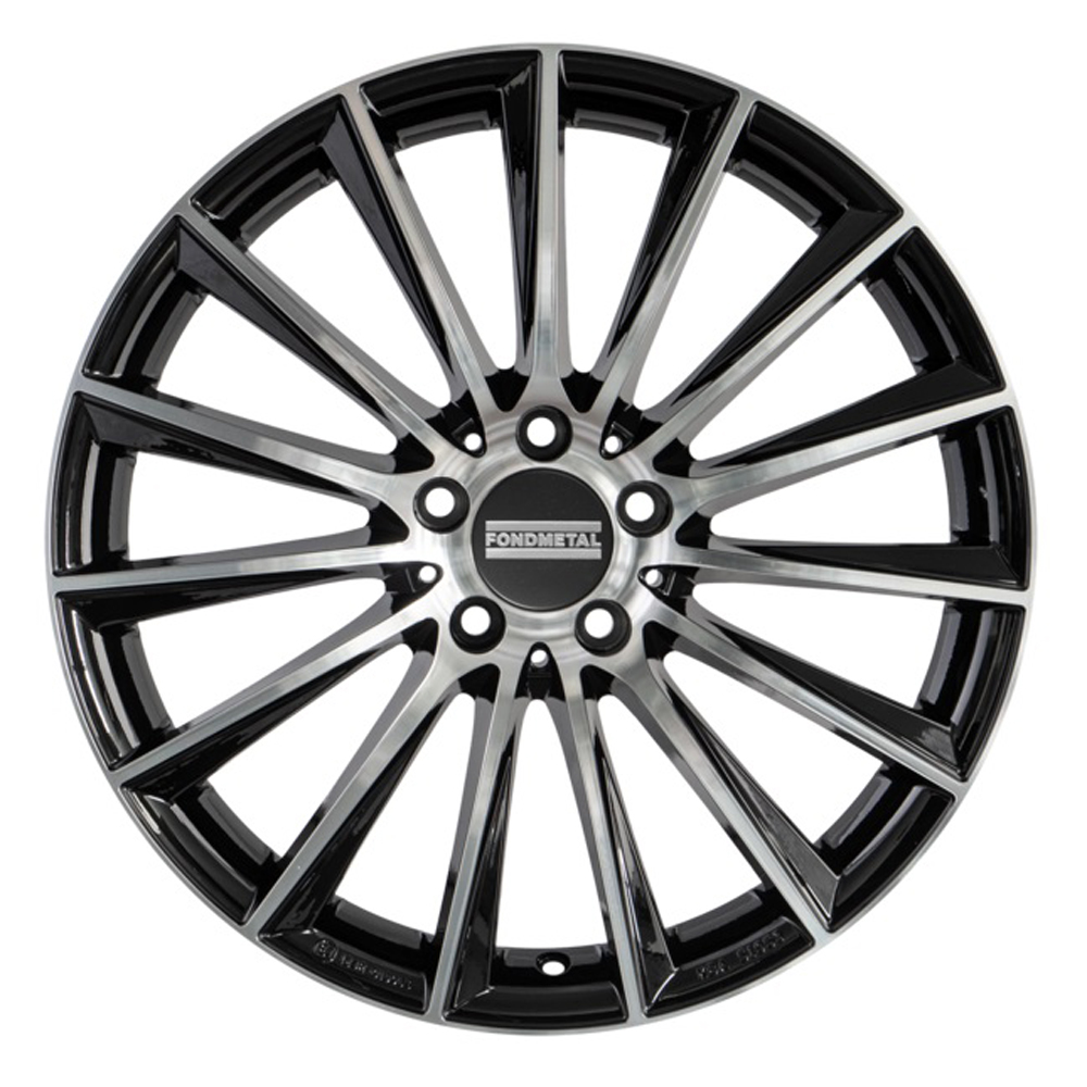 Fondmetal Wheels 195MH Aidon - Gloss Titanium Machined Rim