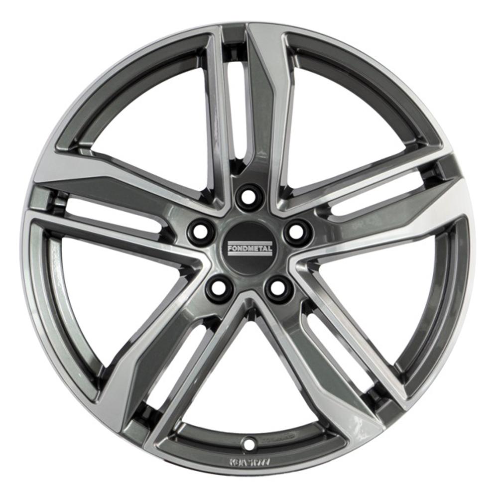 Fondmetal Wheels 192MH Hexis - Gloss Titanium Machined Rim