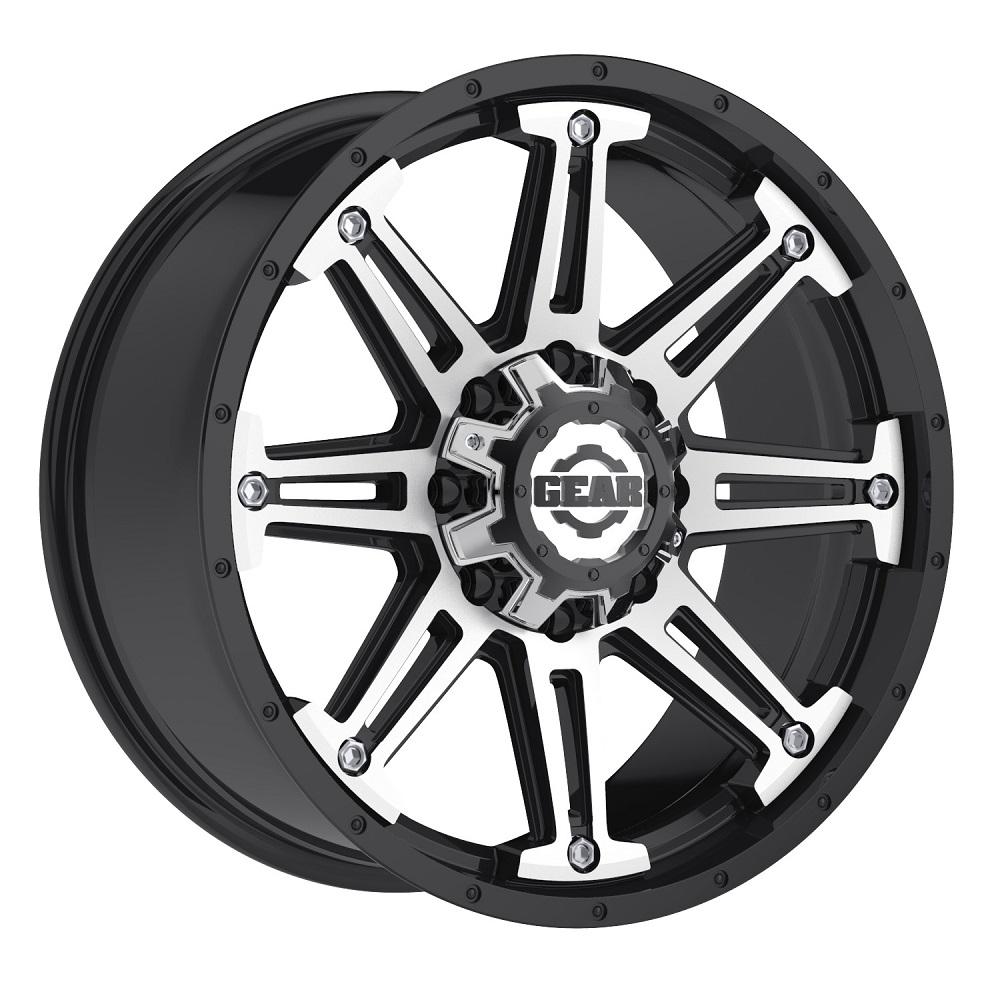 Gear Offroad Wheels 741MB Mechanic - Gloss Black w/Machined Accents Rim