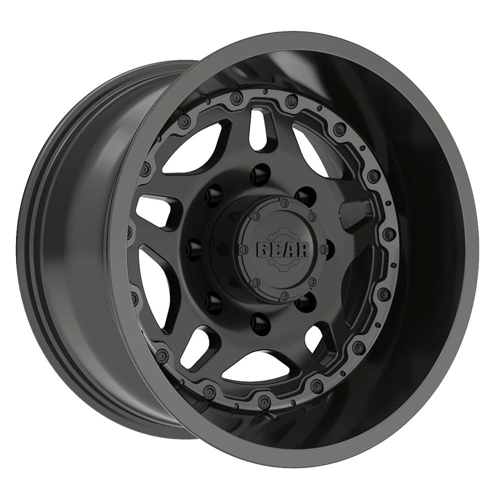 Gear Offroad Wheels 744B Drivetrain - Satin Black/Black Rim
