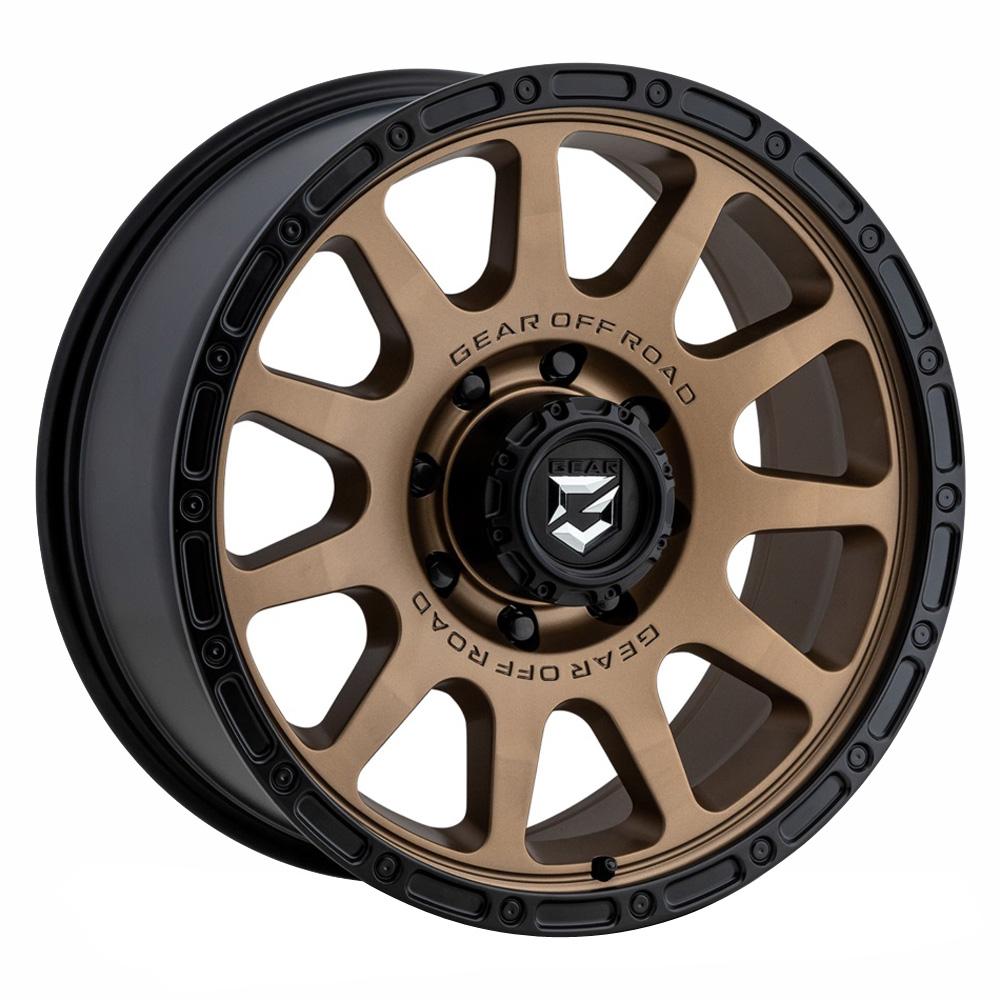 Gear Offroad Wheels 760BZ - Satin Bronze Rim