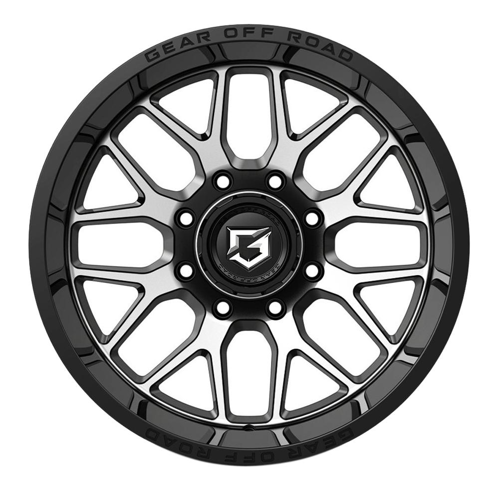 Gear Offroad Wheels 763MB Raid - Black Machined Rim