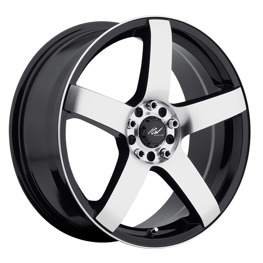 ICW Racing Wheels Mach 5 - Mirror Face & Lip Edge w/Gloss Black Accents Rim