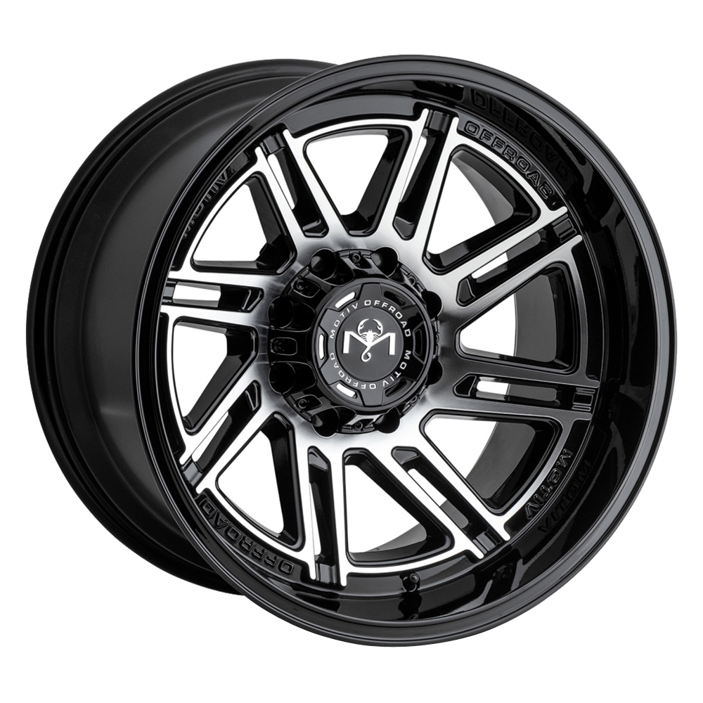 Motiv Wheels 425 Millenium - Machined Gloss Black Rim